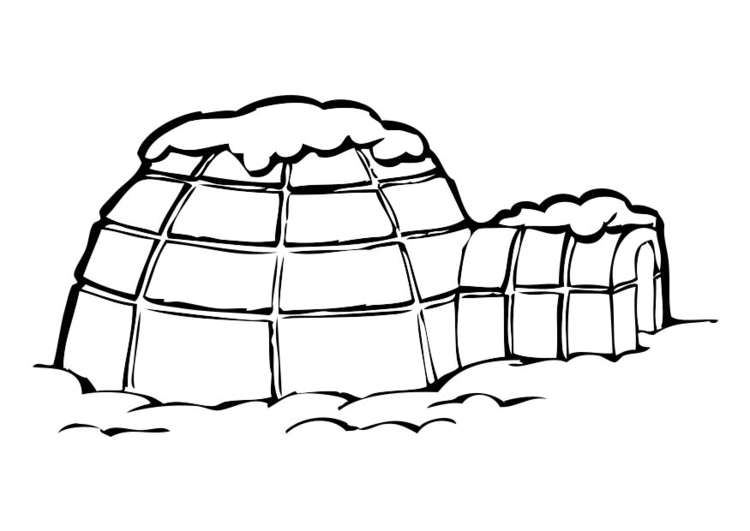 Coloring page Igloo