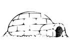 Coloring pages igloo