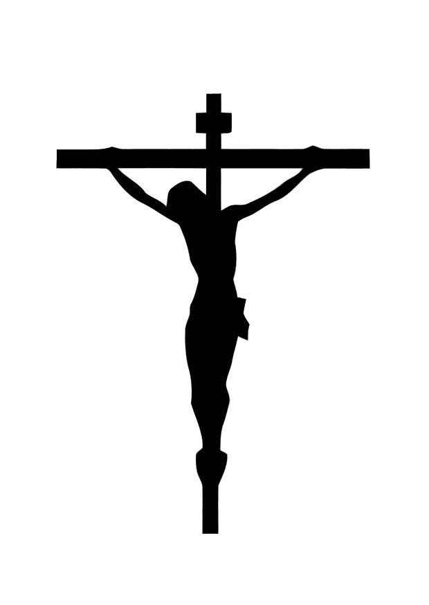 Coloring page Image on the Cross - img 10998.