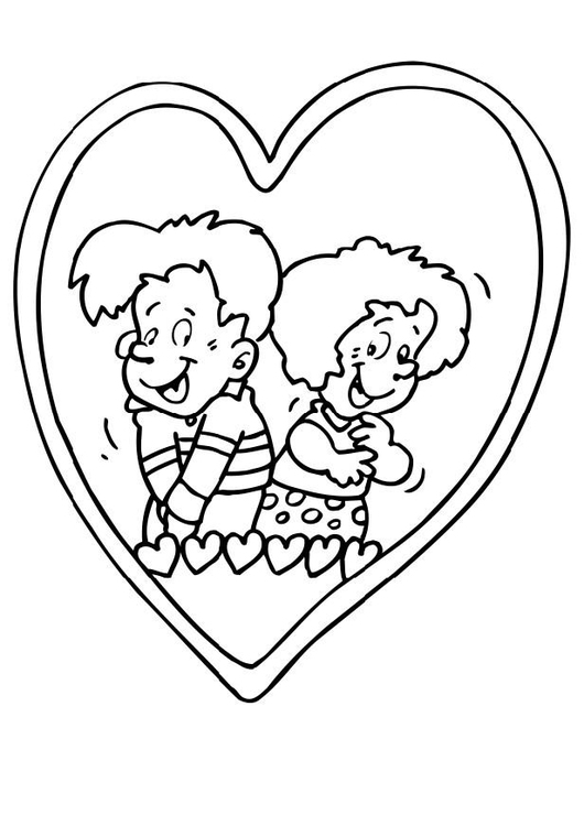 Coloring page in love