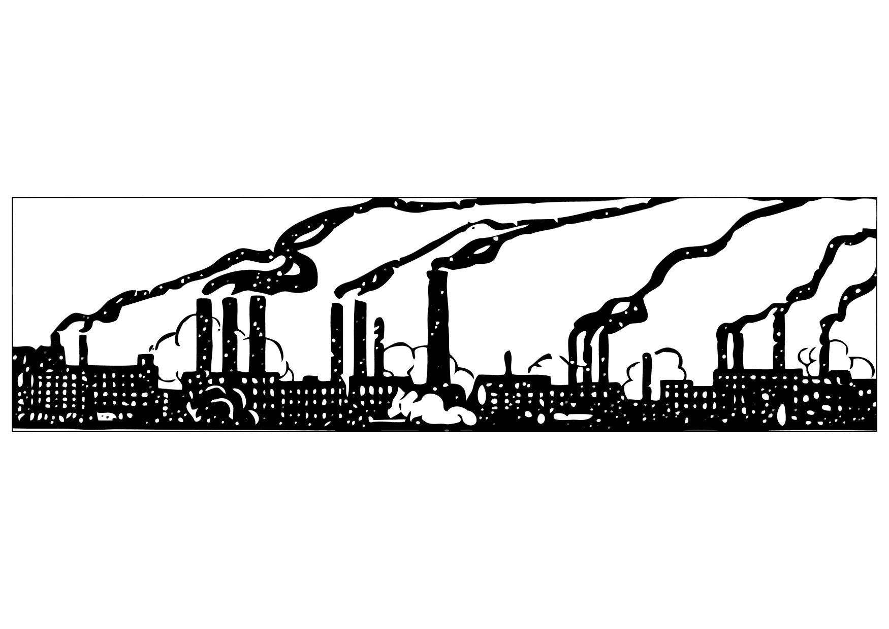 Kleurplaat Fabriek Coloring Page Industrial Pollution Img 11325