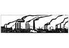 Coloring pages industrial pollution