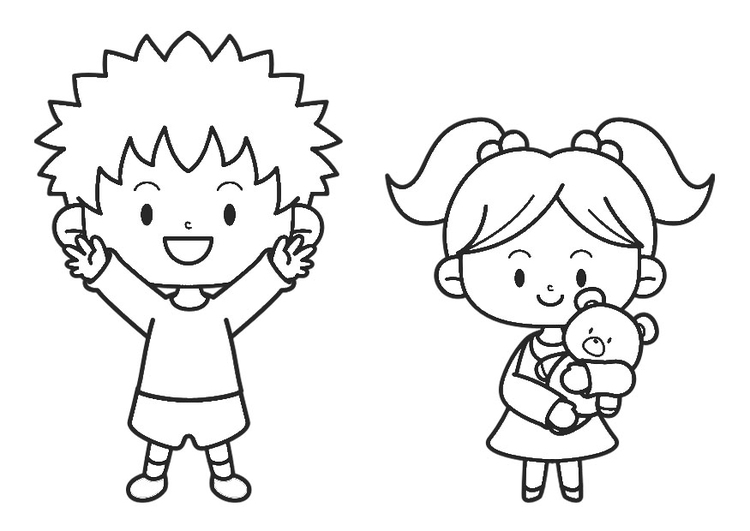 Coloring page infant and toddler