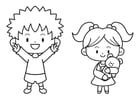 Coloring pages infant and toddler
