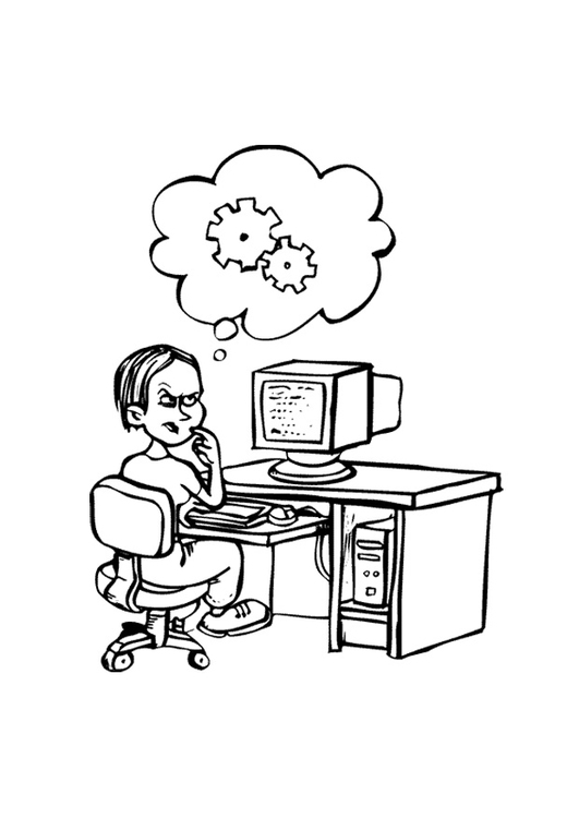 Coloring page information tech