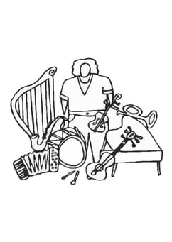 Coloring page instruments
