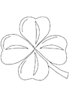 Coloring page Irish clover - Shamrock