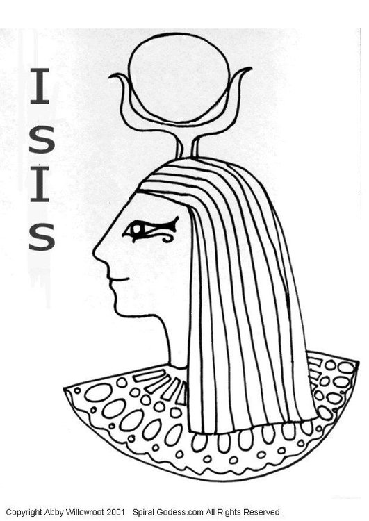 Coloring page Isis