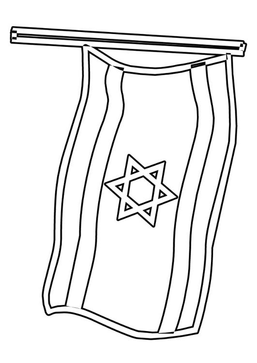 Coloring page israel flag img 22930 for Flag of israel coloring page