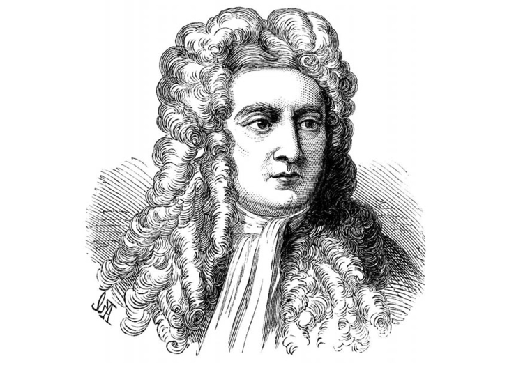 Coloring page Issac Newton