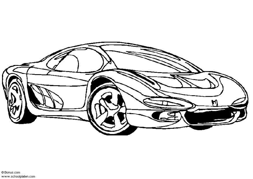 Kleurplaten Race Autos Coloring Page Isuzu Showcar Img 5441 Images