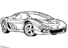 Coloring page Isuzu Showcar