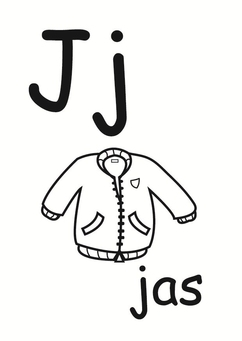 Coloring page j