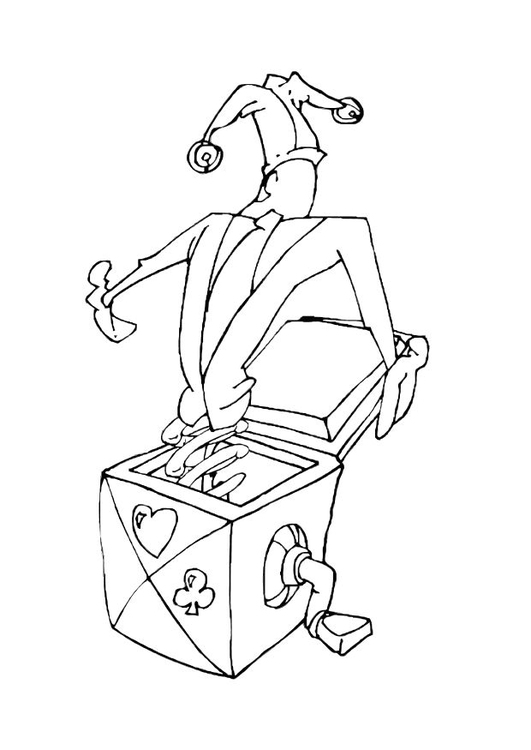 Coloring page jack in the box