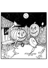 Coloring pages Jack O' Lantern's dance