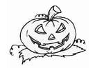 Coloring page jack-o-lantern