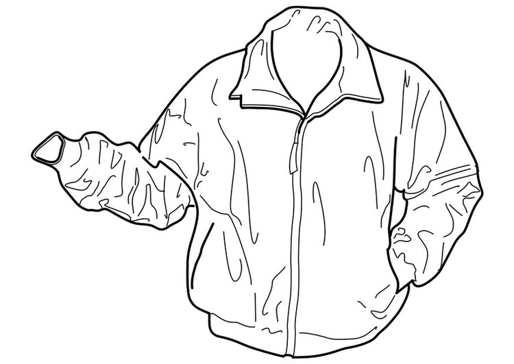 coloring page jacket free printable coloring pages