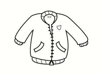 Coloring page jacket