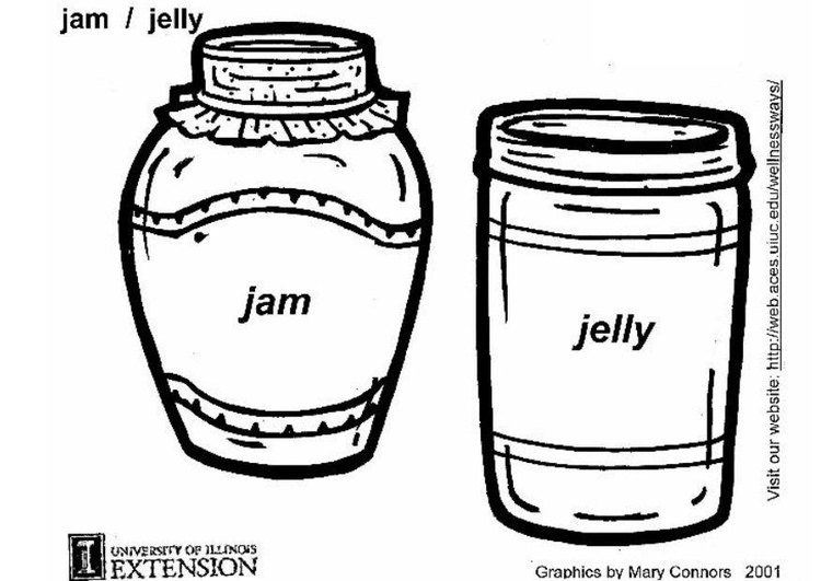 Coloring page jam and jelly