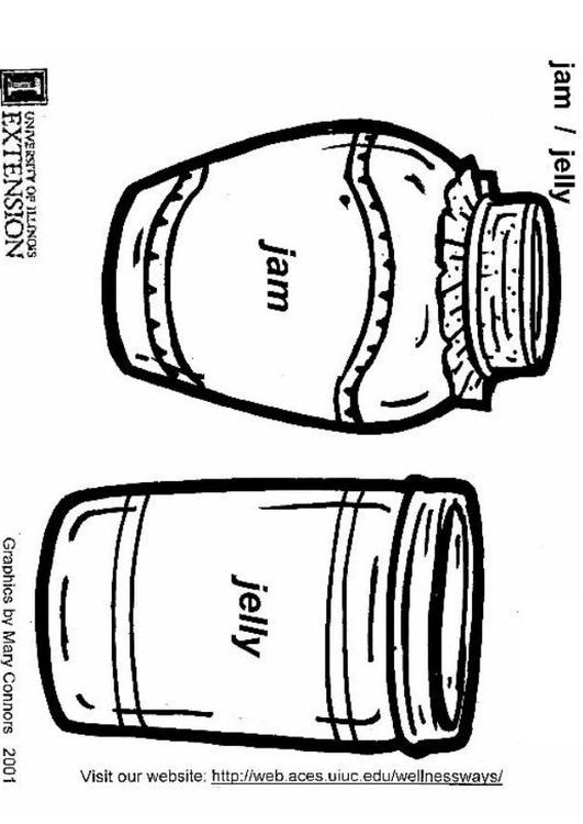 Jello Coloring Pages Jello Coloring Page Jam And