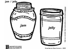 Coloring pages jam and jelly