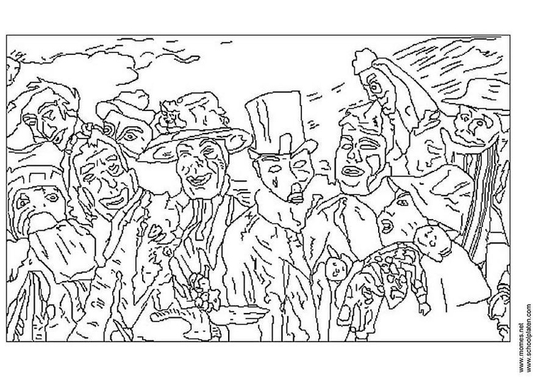 Coloring page James Ensor
