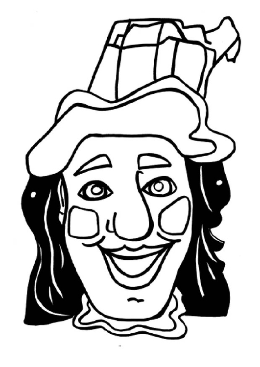 Coloring page Jan Klassen mask