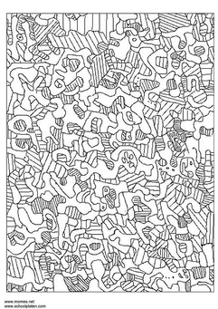 Coloring page Jean Dubuffet