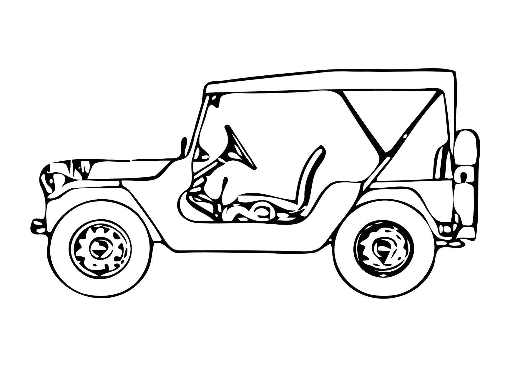Coloring page jeep img 11327