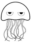 Coloring pages jellyfish