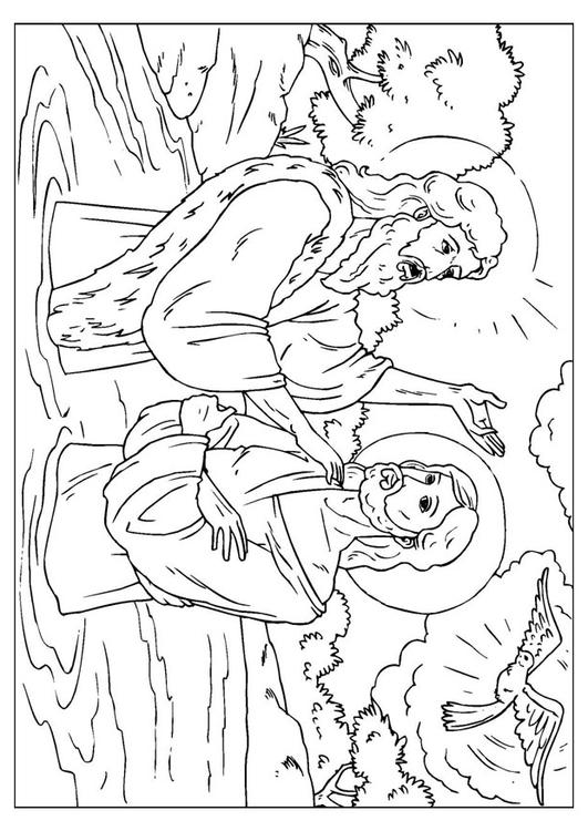 Coloring page Jesus baptized  img 25914