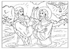 Coloring pages Jesus baptized