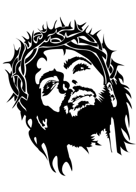 Coloring page Jesus
