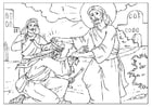 Coloring pages Jesus heals