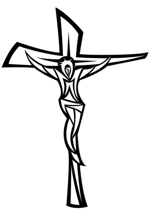 Coloring page Jesus on the cross