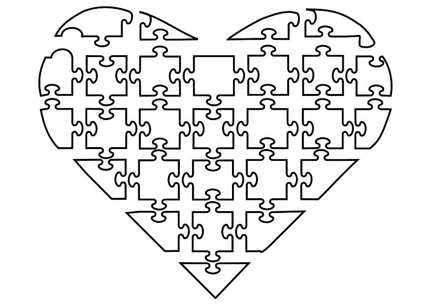 Coloring Page Jigsaw Heart Img 21144