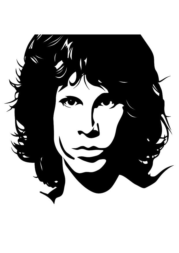 Coloring Page Jim Morrison Free Printable Coloring Pages