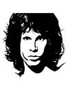 Coloring pages Jim Morrison