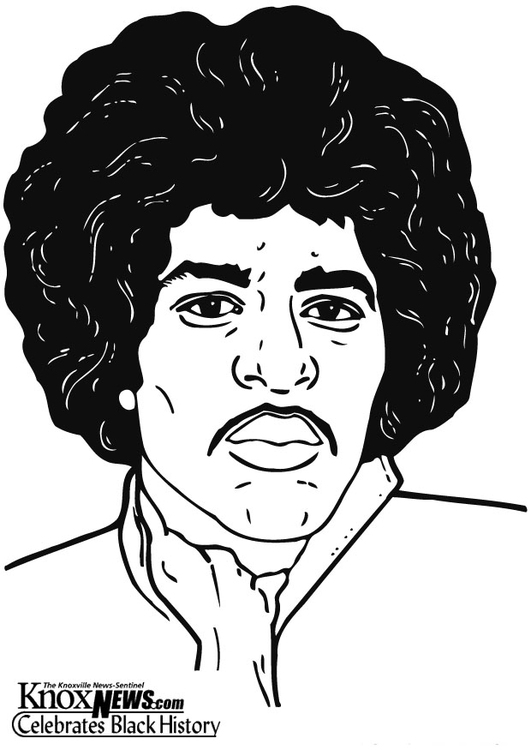 Coloring page Jimi Hendrix