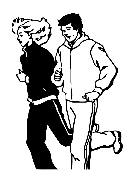 Coloring page jog