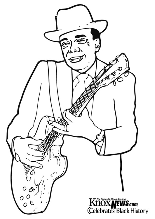 Coloring page John Lee Hooker