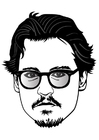 Coloring page Johnny Depp
