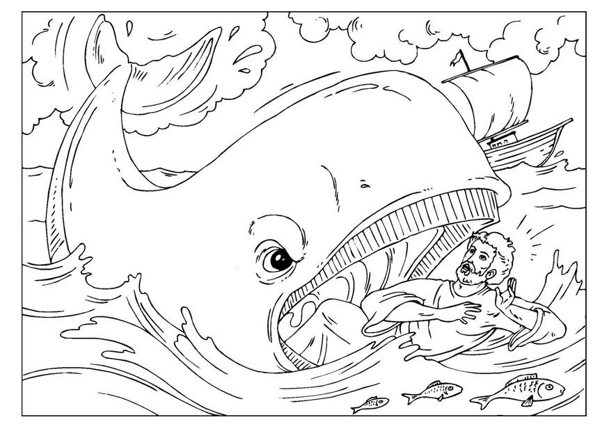 Beste Jonah Und Der Große Fisch Ausmalbilder Galerie - Druckbare ...