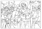 Coloring pages Judas betrayal