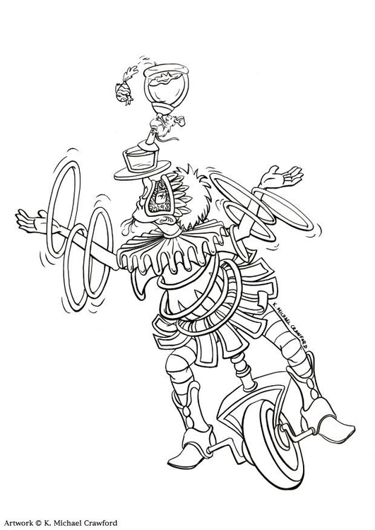 coloring page juggler  free printable coloring pages