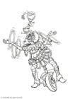 Coloring page juggler