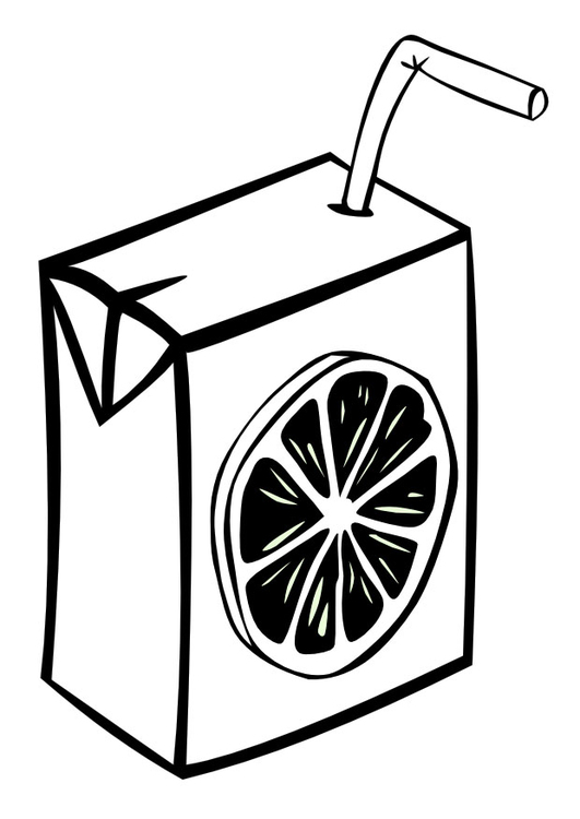 Coloring page juice box