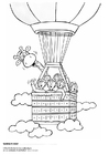 Coloring pages Jules and friend in hot air balloon