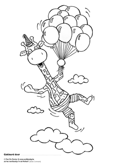 Coloring page Jules is flying