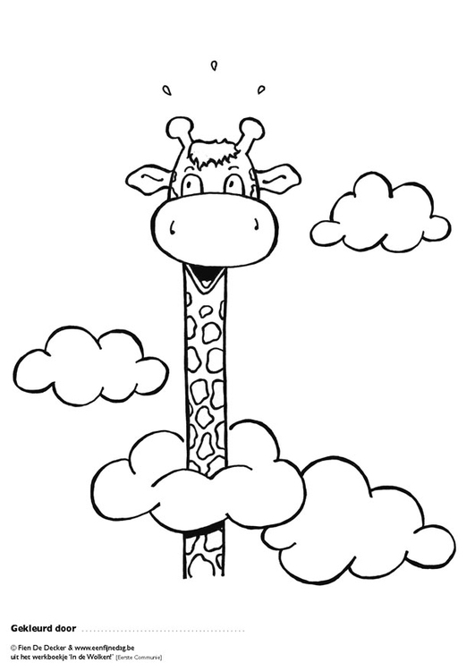 Coloring page Jules is in the clouds